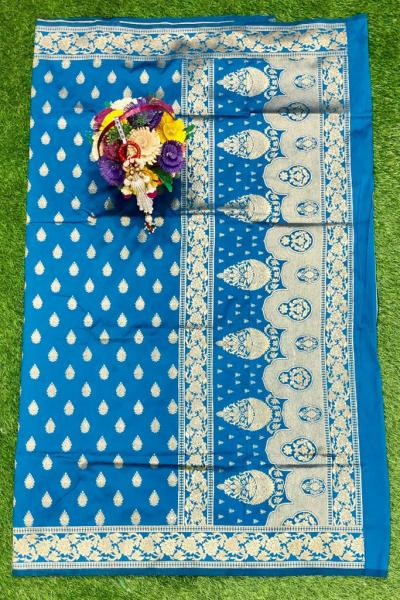 sky-blue-banarasi-silk-weaving-jacquard-saree-with-heavy-rich-zari-pallu