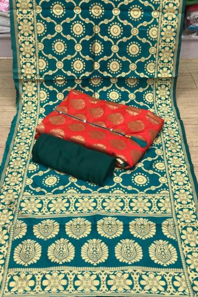 sky-blue-color-heavy-banarasi-festival-wear-dress-material