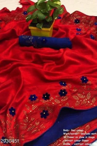 effective-red-color-zoya-silk-with-swaroski-diamond-work-border-saree