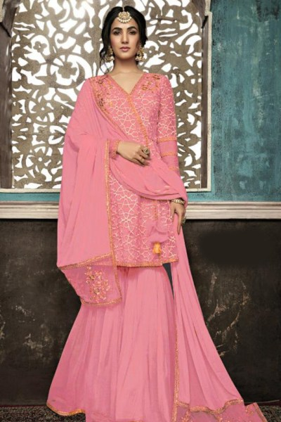 pink-color-mono-soft-net-with-sequence-embroidery-cording-work-plazzo-suit
