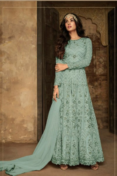 sky-blue-color-heavy-net-rangoli-sartin-with-sequence-work-anarkali-suit