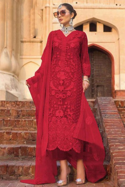 adorable-red-color-heavy-net-with-embroidery-work-sequence-stone-suit