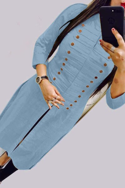 casual-wear-beautiful-sky-blue-color-high-slub-cotton-selfi-kurti