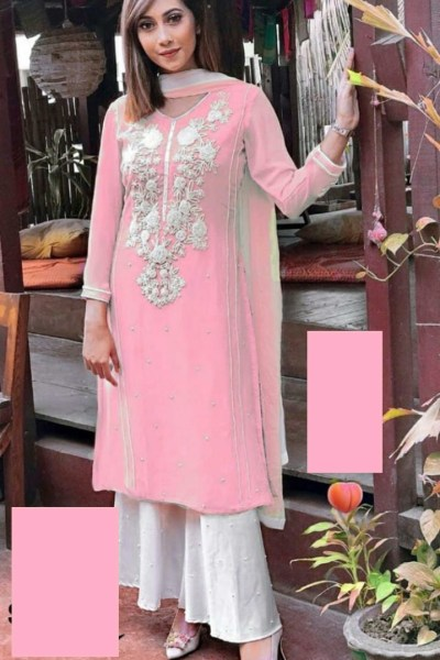 dazzling-pink-color-heavy-georgette-with-embroidered-neck-salwar-suit