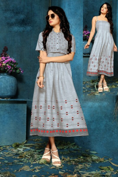 grey-color-two-tone-high-quality-rayon-with-foil-print-kurti-with-jacket
