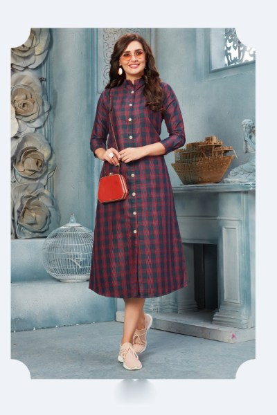 purple-color-chex-full-length-organic-cotton-casual-wear-stylish-kurti