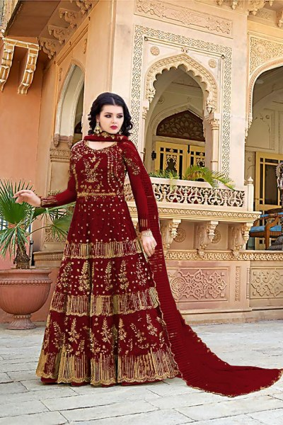 dazzling-red-color-heavy-net-with-embroidery-work-wedding-wear-gown