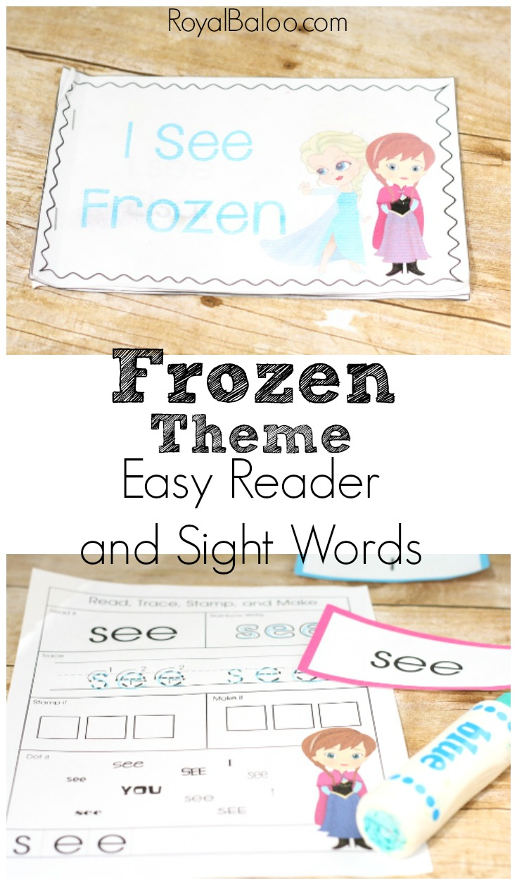 Frozen Themed Printable Early Reader