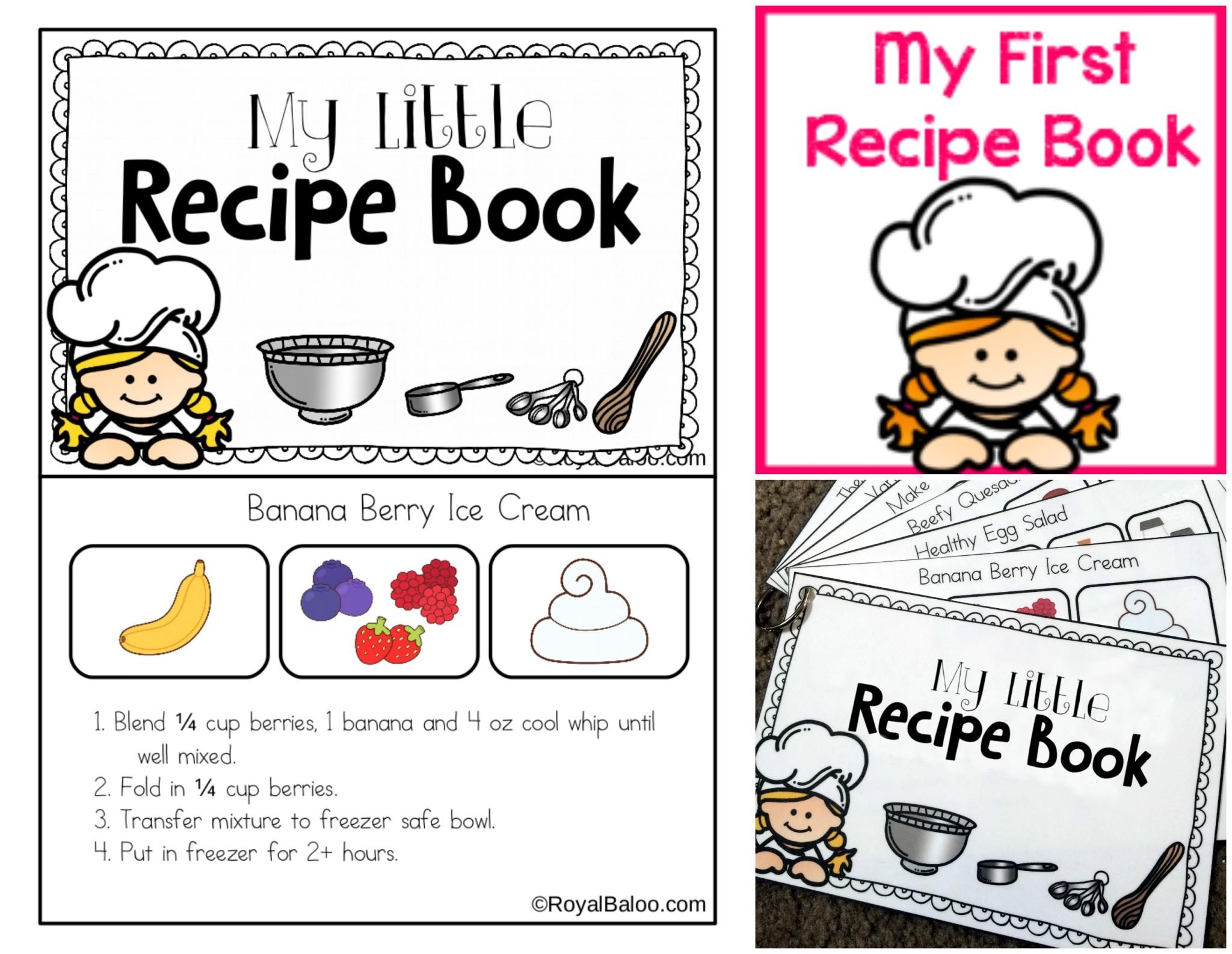 Kids Cookbook Template