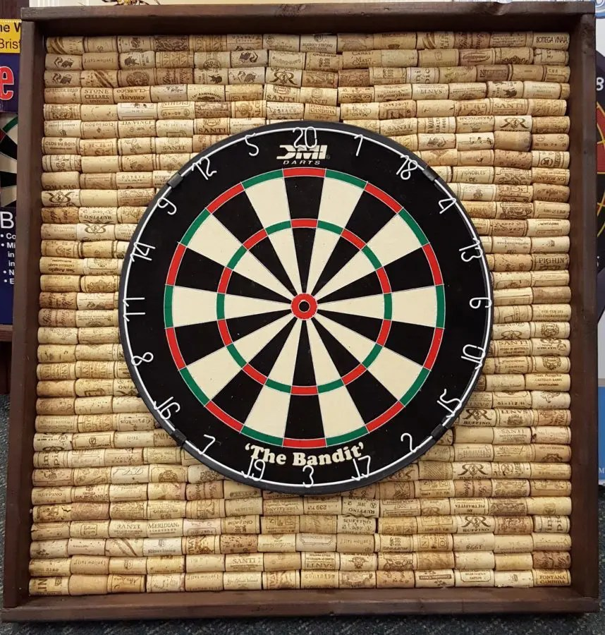 Reclaimed Recreation Dart Board Back With Corks Royal