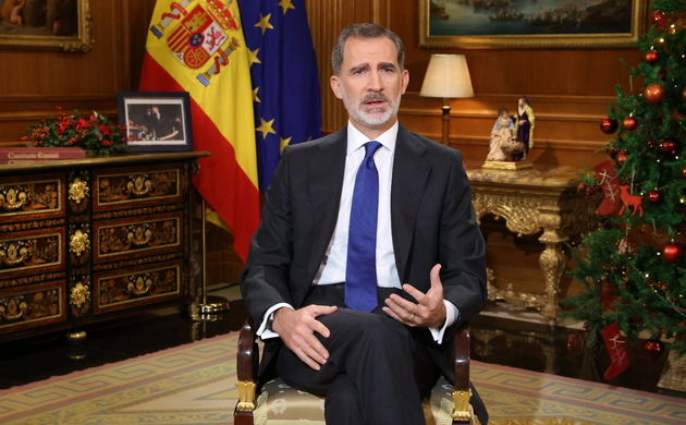 King Felipe VI makes his Christmas address 2020