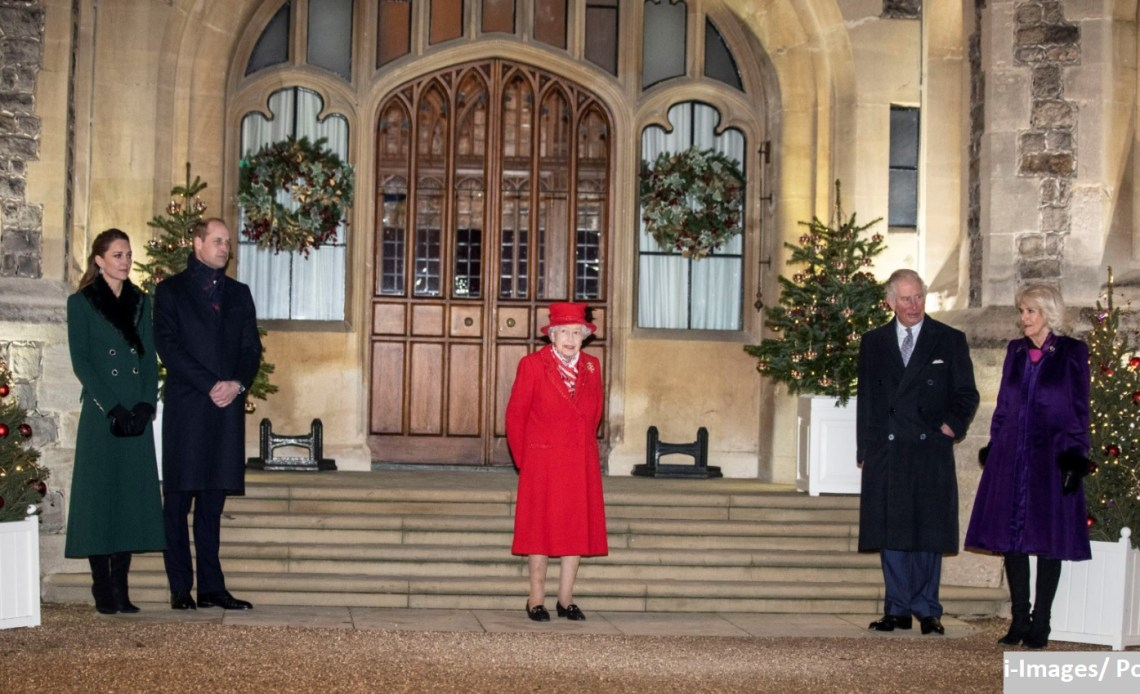 The Queen at Windsor with Royal Family