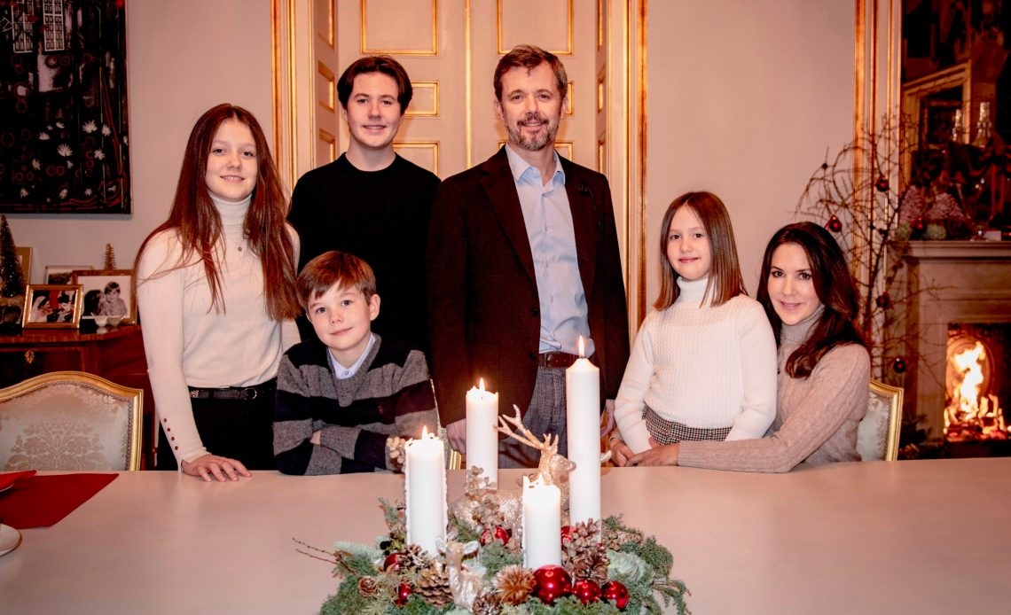 Crown Prince Frederik, Crown Princess Mary and children