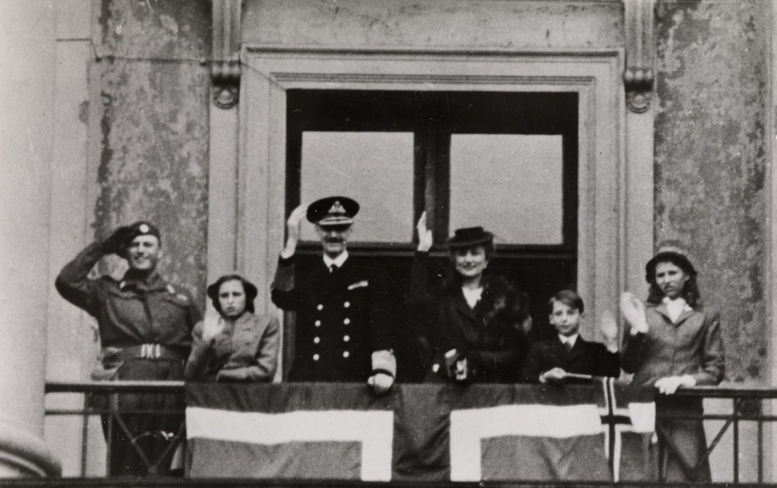 The Norwegian Royal Family at the end of World War II