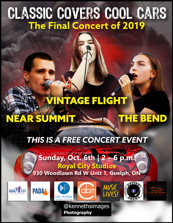 Vibtage Flight, Near Summit and The Bend perform at Classic Covers Cool Cars 2019