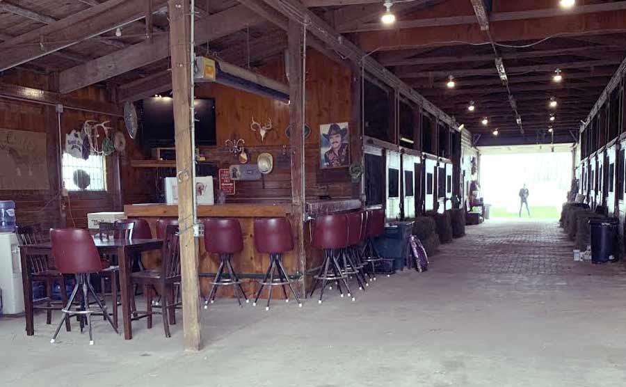 refreshment bar in the barn