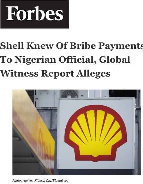 Shell Knew Of Bribe Payments To Nigerian Official, Global Witness