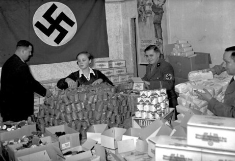 Photograph of Winterhilfswerk staff , the Nazi run charity partly in which Sir Henri Deterding was the largest donor.