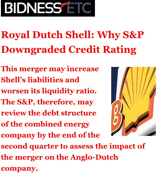 Rdsa Quote: Royal Dutch Shell: Here's Why S&P Downgraded Credit Rating