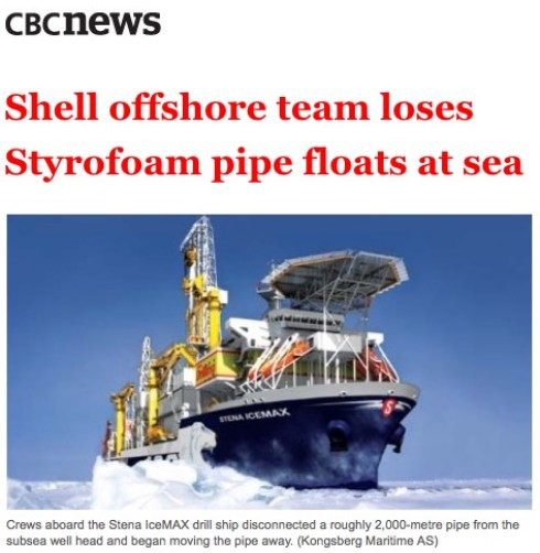 Shell offshore team loses Styrofoam pipe floats at sea – Royal Dutch