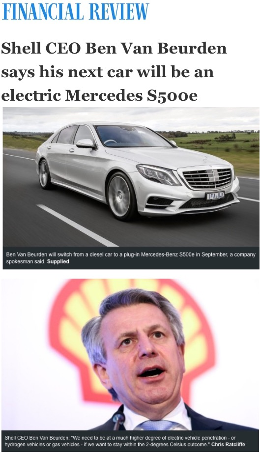 Royal Dutch Shell Ceo Electric Car