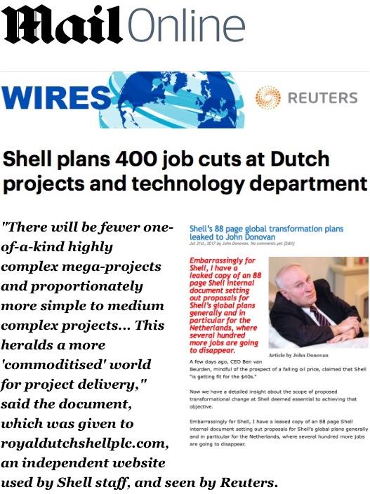 Shell Job Cuts – Royal Dutch Shell Plc  com