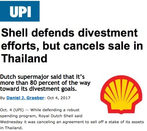 Shell defends divestment efforts, but cancels sale in
