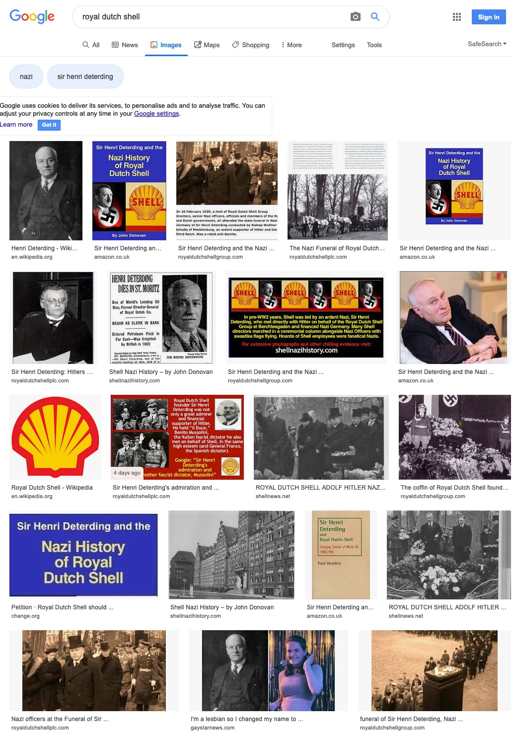 Shell's toxic Nazi history catching up with the energy giant