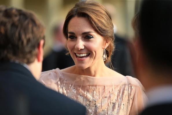 The duchess Catherine in Jenny Packham