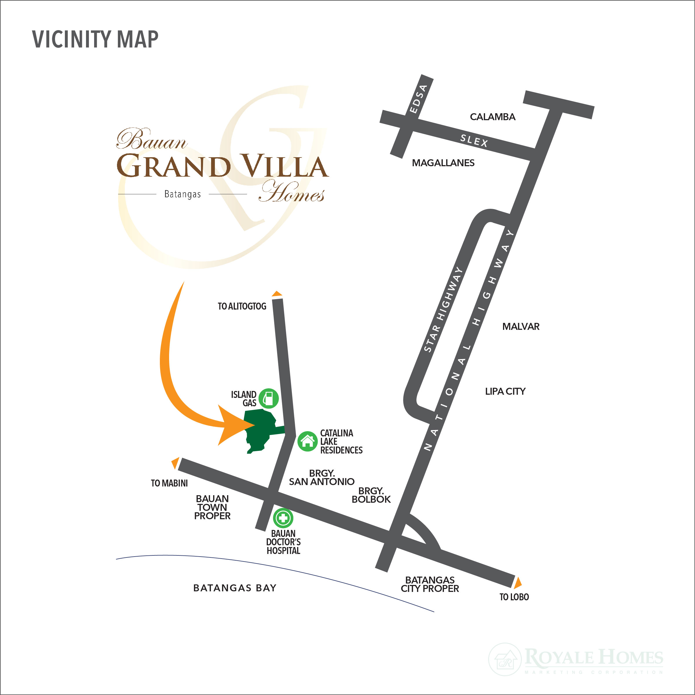 Bauan Grand Villa Homes Royale Homes Marketing Corp