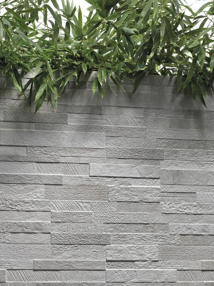 white quartz split face effect porcelain wall tile 150x610