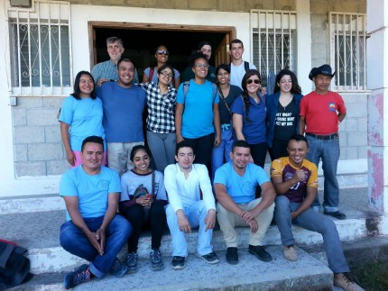 The Honduras SAGE team (Students And Global Community Engagement) at their clinic in Pinares.