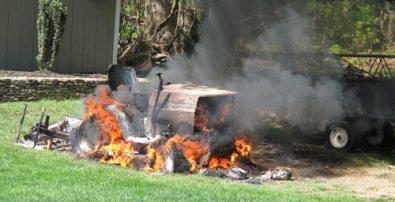 Beware dangers of lawn mower fires   Royal Examiner