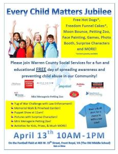 Child Abuse Awareness & Prevention Jubilee @ Warren County Health and Human Services Complex
