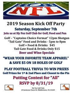 2019 NFL Kick Off Party @ Sly Fox Golf Club