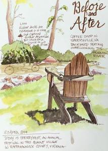 Urban Sketching: Postcards @ Art in the Valley