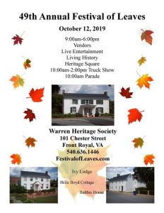 49th Annual Festival of Leaves @ Warren Heritage Society