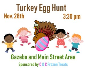 Turkey Egg Hunt @ Main Street Gazebo