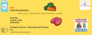 Free Community Food Distribution @ Baptist Church's Fellowship Hall Parking Lot