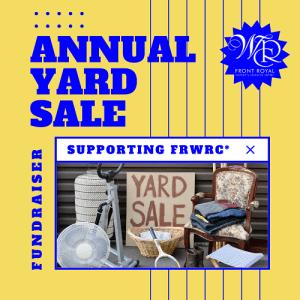 FRWRC Annual Fundraiser Yard Sale @ Weichert Realtor's Parking Lot