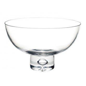rounded glass pedestal bowl