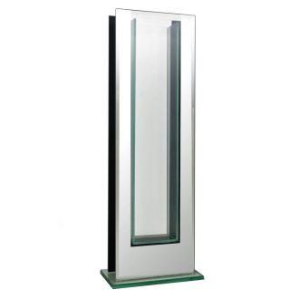 rectangular mirror trim vase 20in