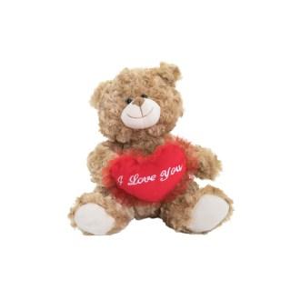 brown fluffy bear plush stuffed animal 12in
