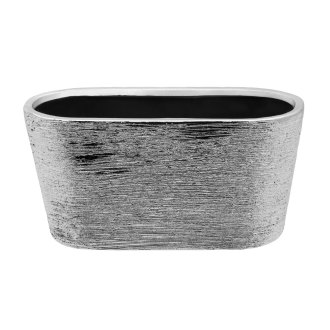 ceramic silver etch oval 8x4