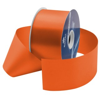 orange waterproof poly-satin ribbon 2.75in