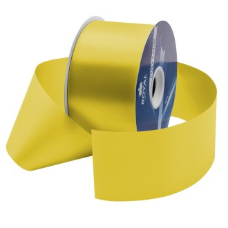 yellow waterproof poly-satin ribbon 2.75in