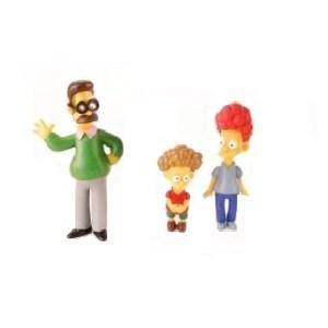 Famille Flanders Simpson lot de 3 fig