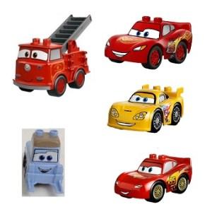 5 voitures Cars Lego Duplo Disney/Pixar