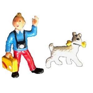 Figurines Tintin et Milou vintage Bully PIB