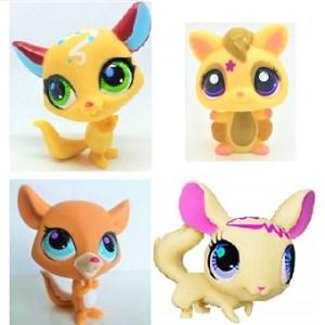 lot 4 Pet Shop Figurines (LPS) Hasbro.